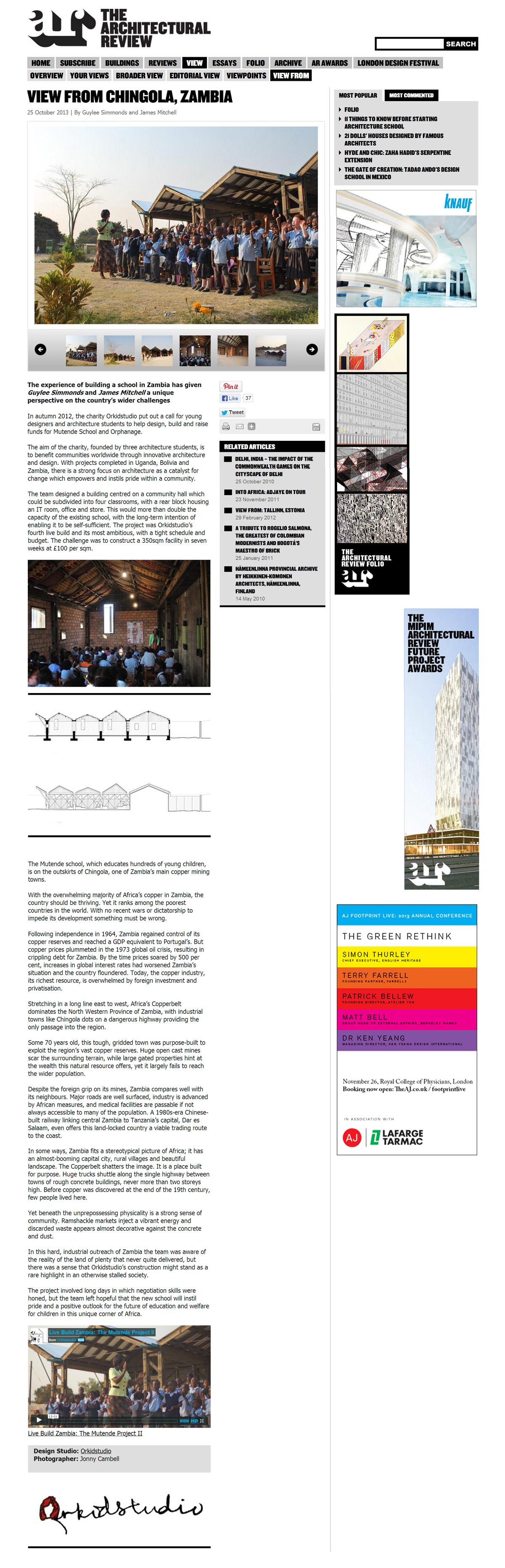 Architectural Review - Mutende, Zambia