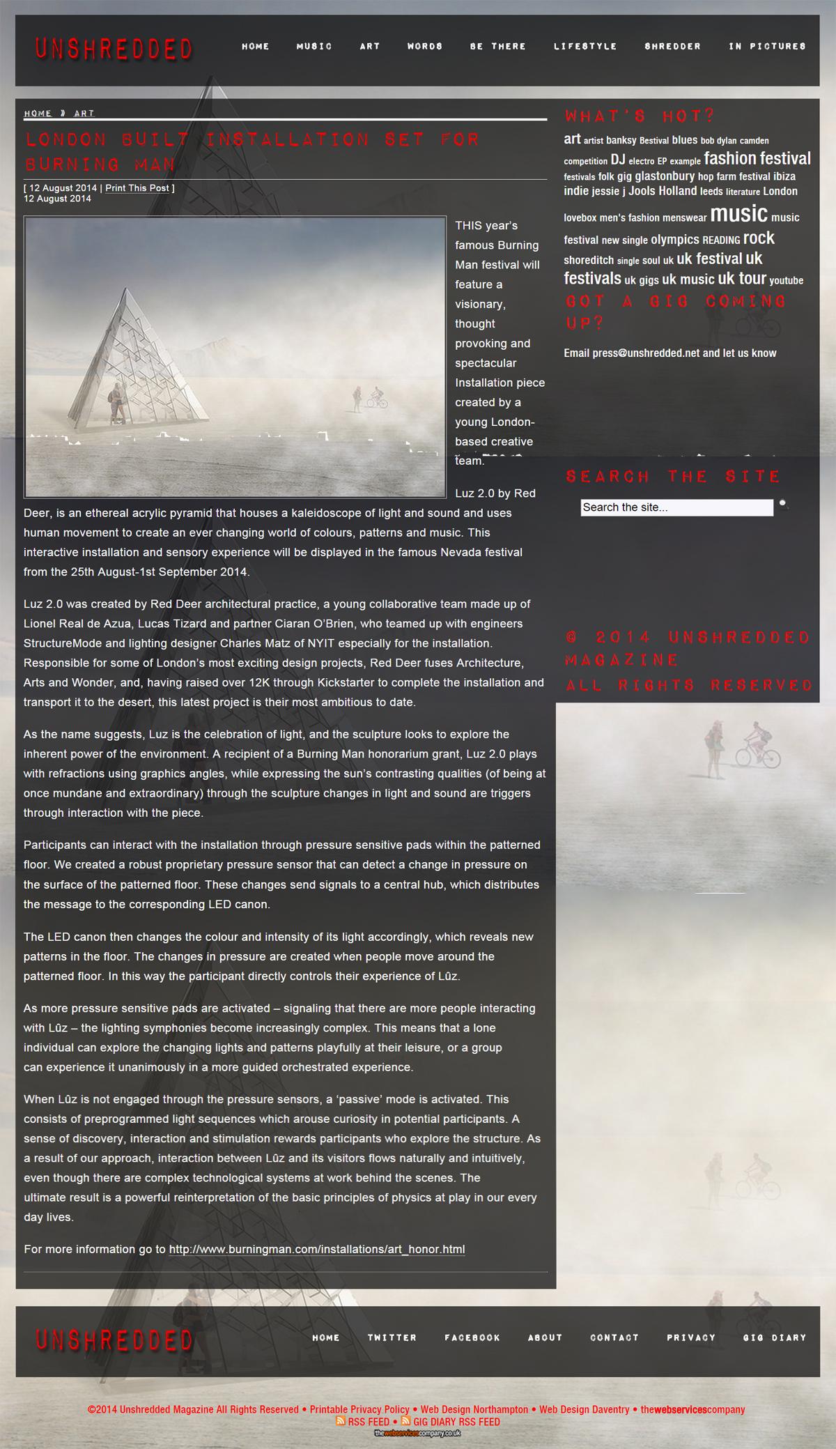 Unshredded - Luz 2.0, Burning Man Festival