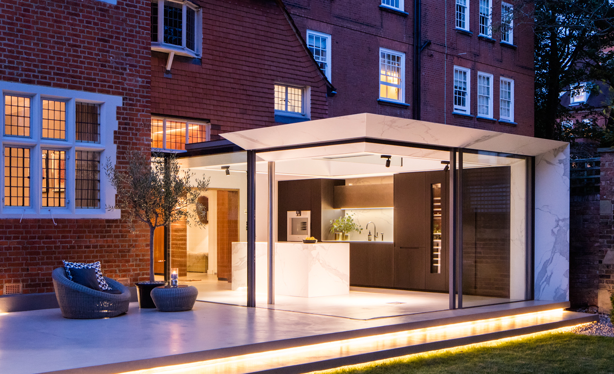 Structural Glass And Balanced Cantilever Steel Extension